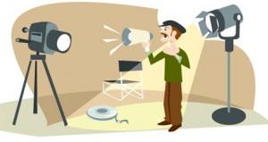 Caricatura de un director de cine