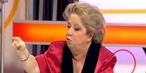 La periodista y escritora María Antonia Iglesias, en uno de sus intensos debates del programa La Noria en Telecinco
