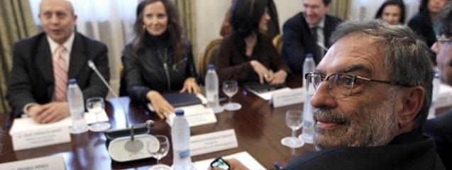 Reunión del Ministro de Educación, Cultura y Deporte con González-Macho, prsidente de la Academia del Cine