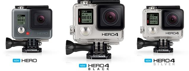 Nueva línea de cámaras Hero y Hero4 de GoPro