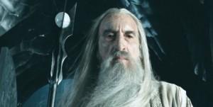 Christopher Lee, como Saruman en El señor de los anillos