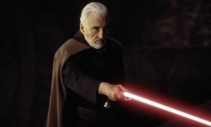 Christopher Lee, como conde Dooku en Star Wars