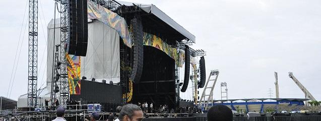 Escenario donde The Rolling Stones actuaron en Cuba