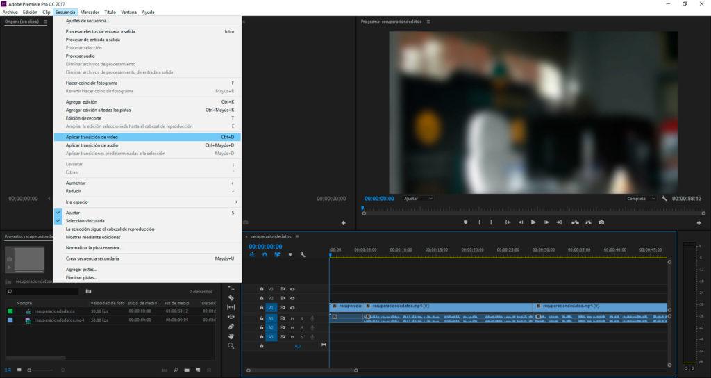 Cómo utilizar las transiciones en Adobe Premiere