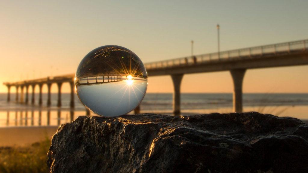 foto invertida por refracción