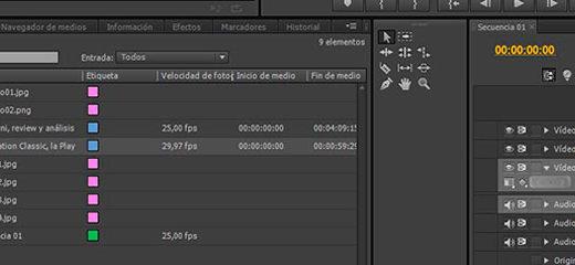 ¿Sabes cómo introducir los materiales en el Adobe Premiere?
